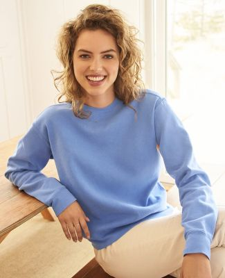C1596 Comfort Colors Ladies' 10 oz. Garment-Dyed Wide-Band Fleece Crew Catalog