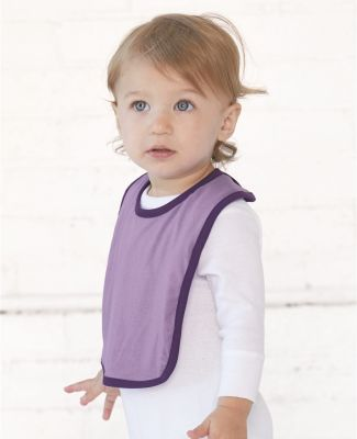 RS1004 Rabbit Skins Infant Jersey Contrast Trim Velcro™ Bib Catalog