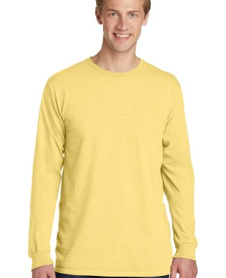 Port & Company PC099LS Pigment-Dyed Long Sleeve Te Popcorn