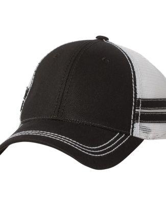 Sportsman 9600 - Trucker Cap with Stripes Black/ White