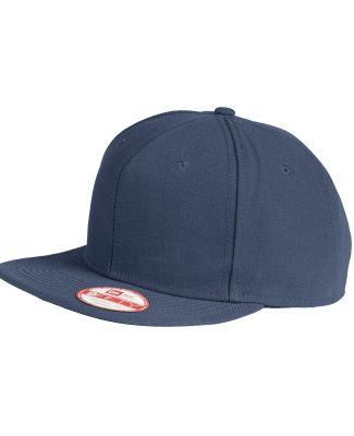 NE402 - New Era® Faux Wool Flat Bill Snapback Cap League Navy