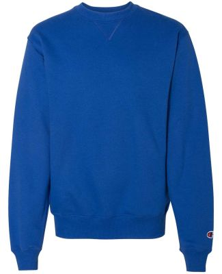 S1780 Champion Logo Cotton Max Crew Pullover Athletic Royal