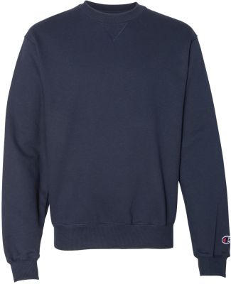 S1780 Champion Logo Cotton Max Crew Pullover Navy