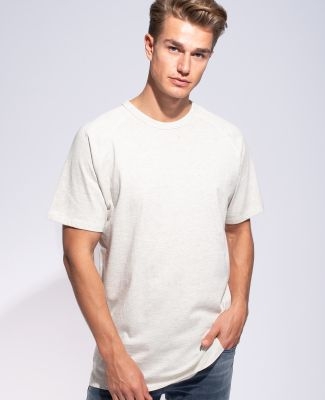 Cotton Heritage MC1083 Short Sleeve Raglan Tee White