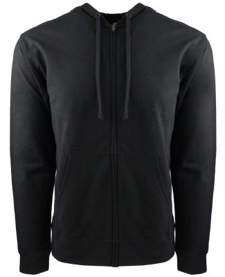 9601 Next Level French Terry Zip Up Hoodie BLACK/ BLACK