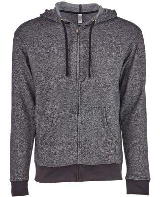 9600 Next Level Adult Denim Fleece Full-Zip Hoodie BLACK