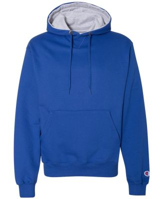 S1781 Champion Logo Cotton Max Pullover Hoodie Athletic Royal
