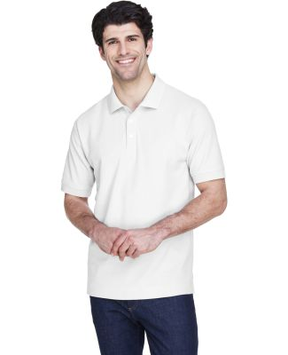 D100T Devon & Jones Men's Tall Pima Piqué Short-S WHITE