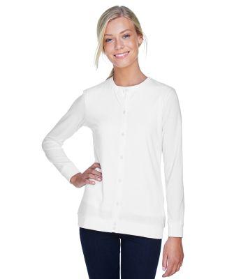 DP181W Devon & Jones Ladies' Perfect Fit™ Ribbon WHITE