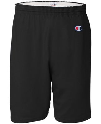 8187 Champion 6.3 oz. Ringspun Cotton Gym Shorts Black