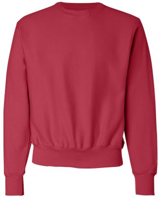 S1049 Champion Logo Reverse Weave Pullover Scarlet