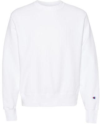 S1049 Champion Logo Reverse Weave Pullover White