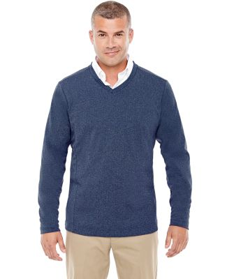 D884 Devon & Jones Adult Fairfield Herringbone V-N Navy Heather
