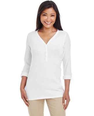 DP186W Devon & Jones Ladies' Perfect Fit™ Y-Plac WHITE