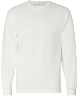 CC8C Champion Logo Long-Sleeve Tagless Tee White