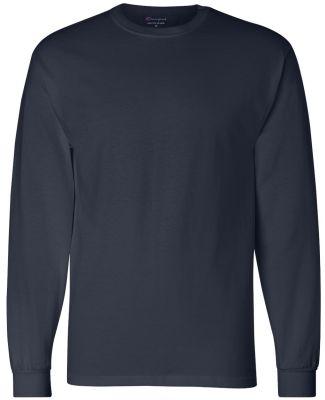 CC8C Champion Logo Long-Sleeve Tagless Tee Navy