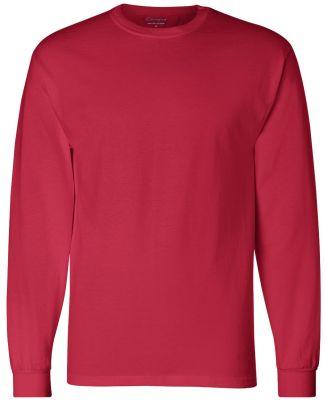 CC8C Champion Logo Long-Sleeve Tagless Tee Red
