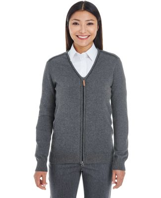 DG478W Devon & Jones Ladies' Manchester Fully-Fash DK GREY HTH/ BLK