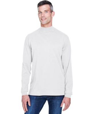 D420 Devon & Jones Adult Sueded Cotton Jersey Mock WHITE