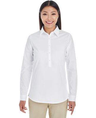 DP610W Devon & Jones Ladies' Perfect Fit™ Half-p WHITE