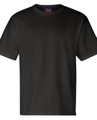 T105 Champion Logo Heritage Jersey T-Shirt Black