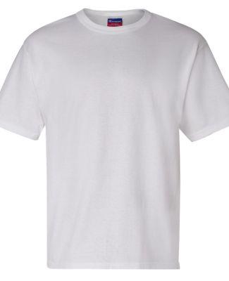 T105 Champion Logo Heritage Jersey T-Shirt White
