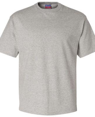T105 Champion Logo Heritage Jersey T-Shirt Oxford Grey Heather