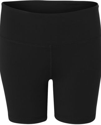 W6507 All Sport Ladies' Fitted Short Black