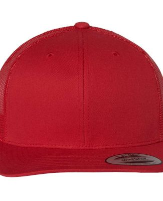 6606 Yupoong Retro Trucker Cap Red