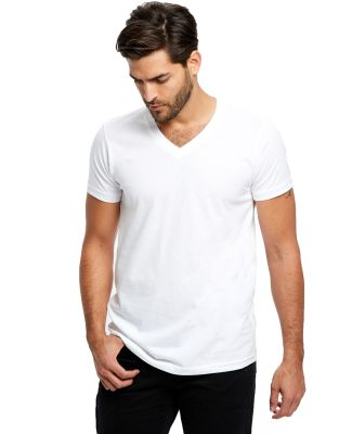 US Blanks US2200 Men's V-Neck T-shirt White