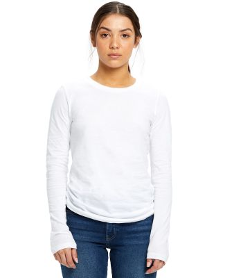 US Blanks US190 Women's Long Sleeve Tee White