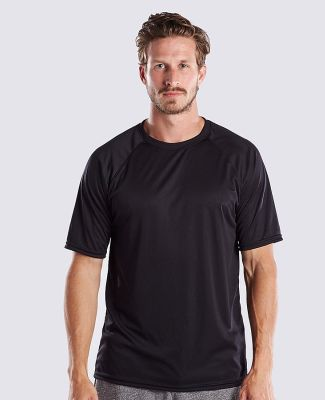 US Blanks US2999 Men's Performance Raglan Tee Black