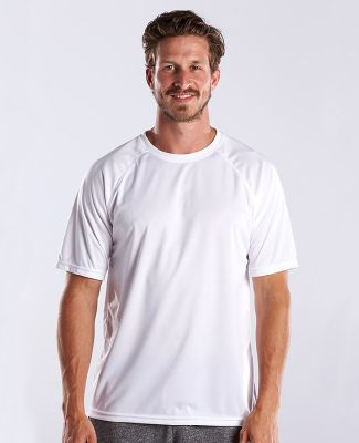 US Blanks US2999 Men's Performance Raglan Tee White