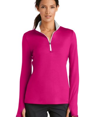 Nike Golf 779796  Ladies Dri-FIT Stretch 1/2-Zip C Sport Fchs/Wht