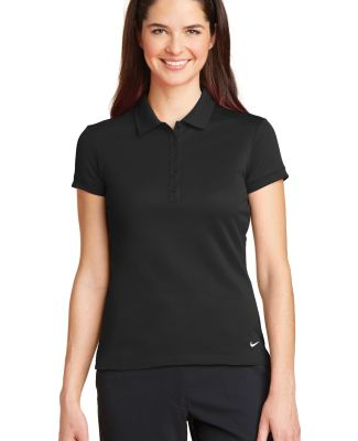 Nike Golf 746100  Ladies Dri-FIT Solid Icon Pique  Black