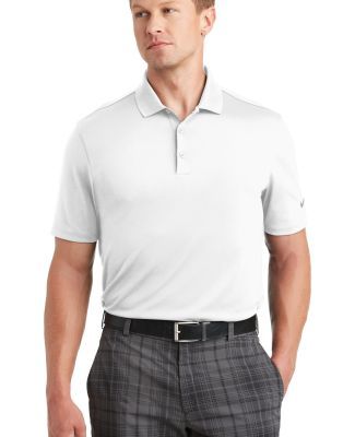 Nike Golf 838956  Dri-FIT Players Polo with Flat K White