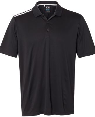 Adidas A233 Climacool 3-Stripes Shoulder Polo Black/ White/ Mid Grey
