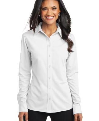 Port Authority L570    Ladies Dimension Knit Dress White