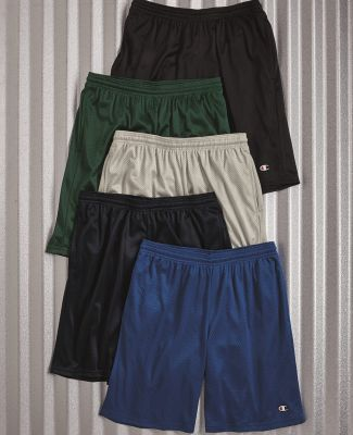 S162 Champion Logo Long Mesh Shorts with Pockets Catalog