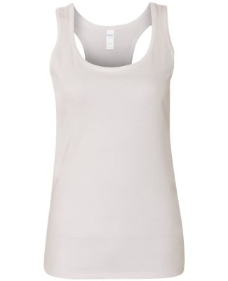 Gildan 645R2L SoftStyle Women's Racerback Tank Top WHITE