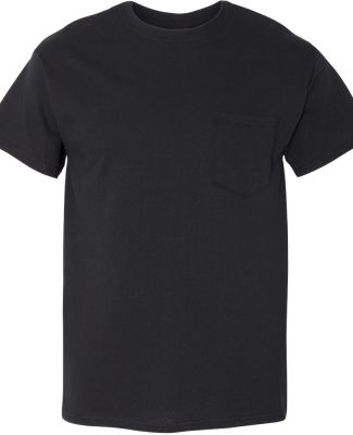 Gildan 5300 Heavy Cotton T-Shirt with a Pocket BLACK