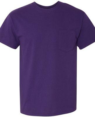 Gildan 5300 Heavy Cotton T-Shirt with a Pocket PURPLE