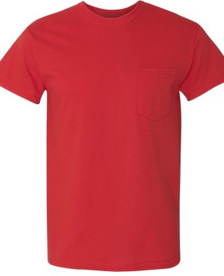 Gildan 5300 Heavy Cotton T-Shirt with a Pocket RED