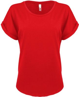 Next Level 6360 Women's Roll Sleeve Dolman RED