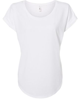 Next Level 6360 Women's Roll Sleeve Dolman WHITE