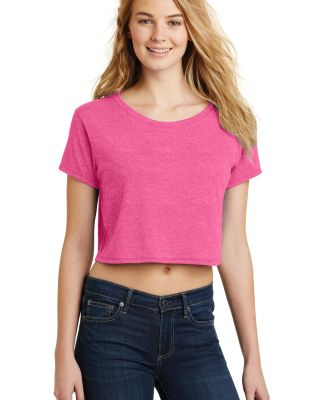 District DT2303    Juniors Relaxed Crop Tee Fuchsia Frost