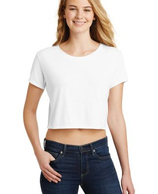 District DT2303    Juniors Relaxed Crop Tee White