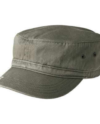 District DT605    - Distressed Military Hat Olive
