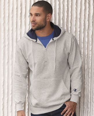S185 Champion Logo Cotton Max Quarter-Zip Hoodie Catalog