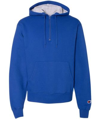 S185 Champion Logo Cotton Max Quarter-Zip Hoodie Athletic Royal